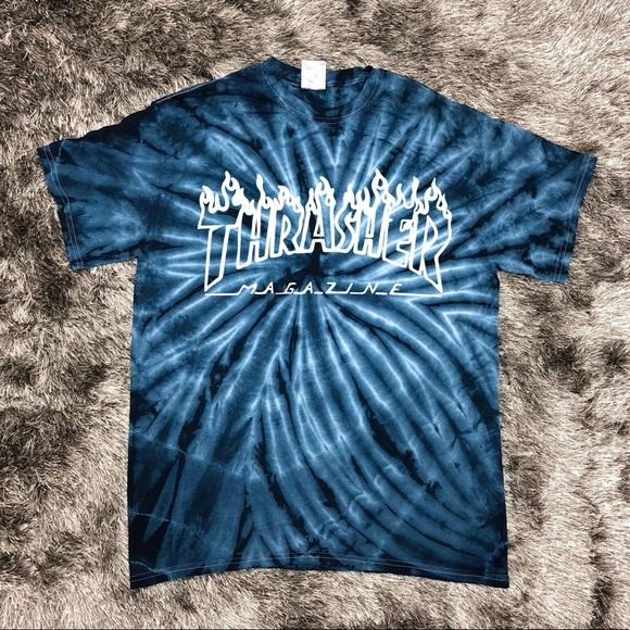 6499c92b0a5b Thrasher Tie Dye T Shirt Black. M 5aad8c89fcdc317f461e144a
